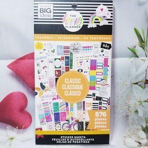 Orange Seasonal Sticker Book The Happy Planner New
